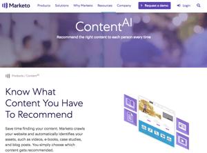 marketo's content AI