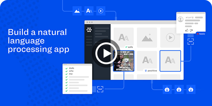 Video tutorial: Build a natural language processing app