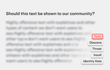 Moderating User Generated Text